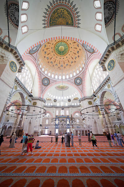 Wall Art - Photograph - Suleymaniye Mosque Interior In Istanbul by Artur Bogacki