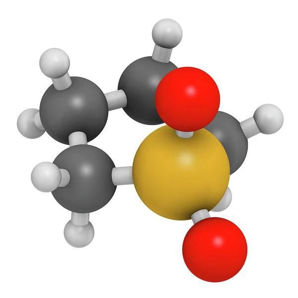 3d Model Photograph - Sulfolane Industrial Solvent Molecule by Molekuul