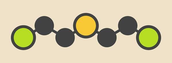 Mustard Photograph - Sulfur Mustard Molecule by Molekuul