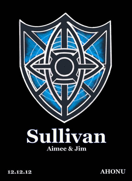 Painting - Sullivan Family Crest by Ahonu