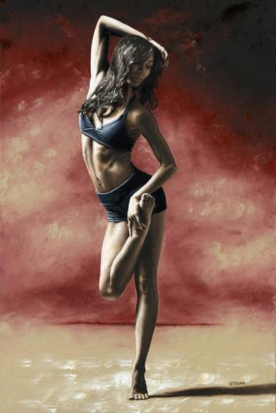 Wall Art - Painting - Sultry Dancer by Richard Young