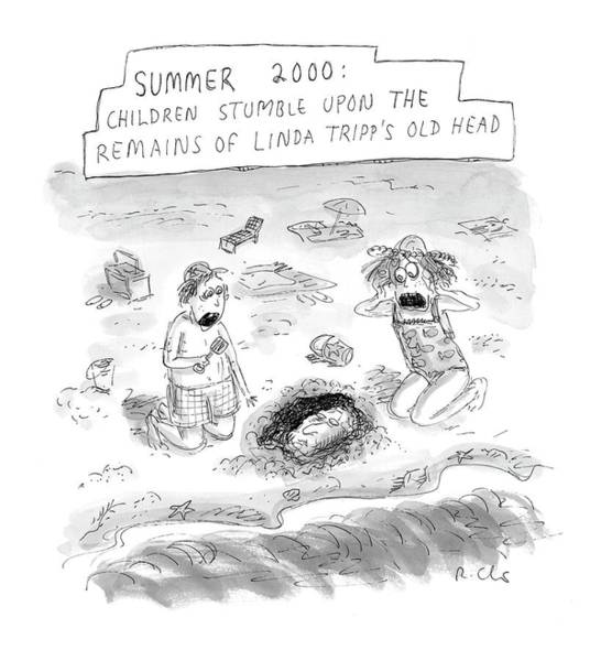 Plastic Surgery Wall Art - Drawing - 'summer 2000' by Roz Chast