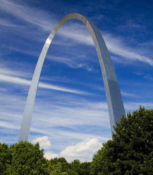 Photograph - Summer Afternoon At The St Louis Arch by Garry McMichael