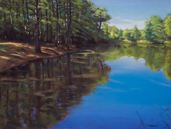 Pastel - Summer At The Pond by Christopher Reid