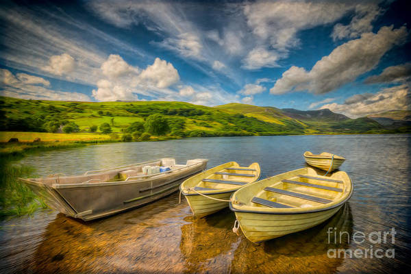 Moor Photograph - Summer Boating by Adrian Evans