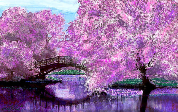 Wall Art - Digital Art - Summer Bridge by Michele Avanti