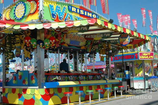 Art Fair Photograph - Summer Carnival Festival Fun Fair Shooting Gallery - Carnival State Fair Stands by Kathy Fornal