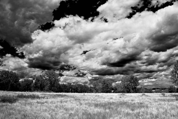 White Cloud Mixed Media - Summer Clouds In Colorado Bw by Angelina Tamez