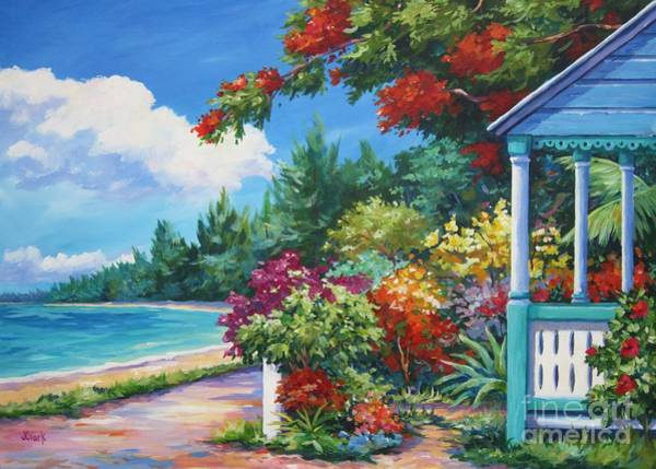 Bahamas Painting - Summer Colors by John Clark
