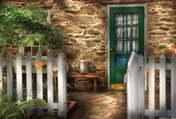 Photograph - Summer - Cottage - Cottage Side Door by Mike Savad