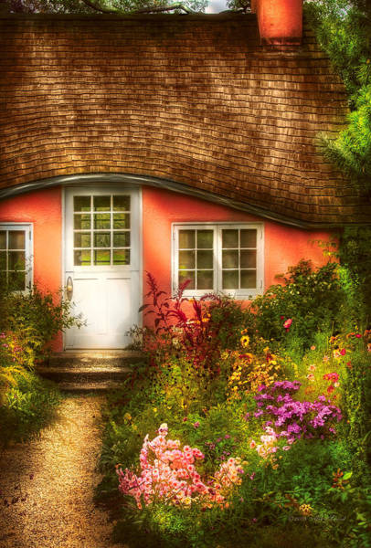 Photograph - Summer - Cottage - Little Pink Play House by Mike Savad