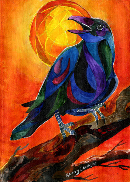 Painting - Summer Crow 1 by Sherry Shipley