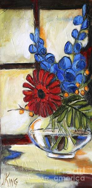 Glass Cutting Painting - Summer Cuttings by Jenny King