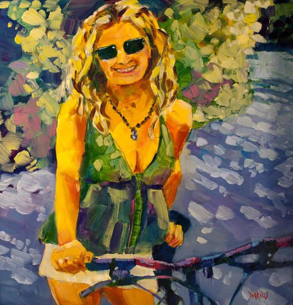 Wall Art - Painting - Summer Cycling by Sue  Darius
