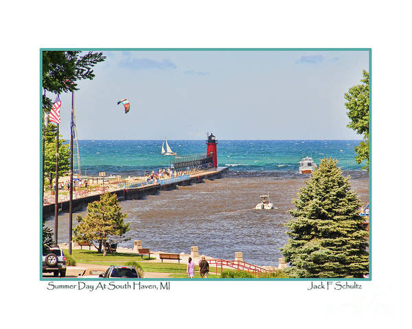 South Haven Wall Art - Photograph - Summer Day At South Haven Mi by Jack Schultz