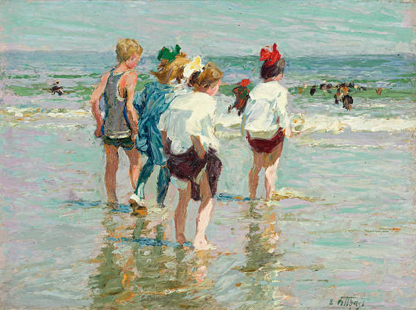 Brighton Painting - Summer Day Brighton Beach by Edward Henry Potthast