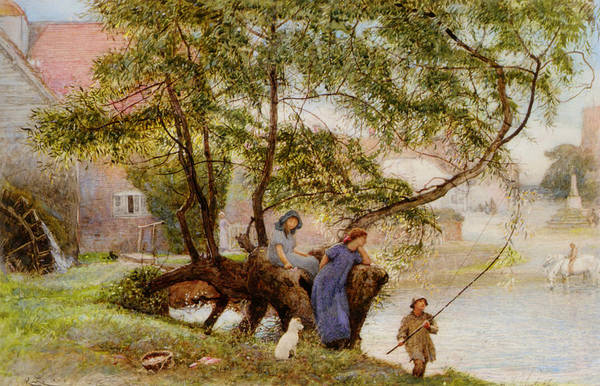 Fishing Pole Digital Art - Summer Day by Robert Walker Macbeth