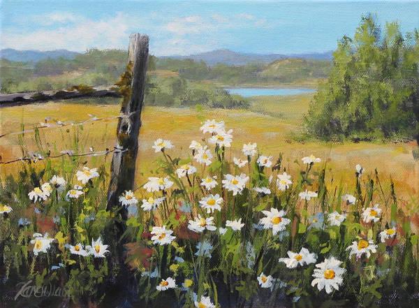 Fencepost Painting - Summer Daydream by Karen Ilari