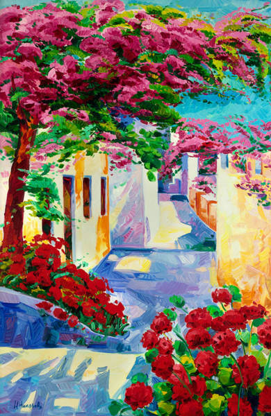 Greek House Painting - Summer Dream by Ivailo Nikolov