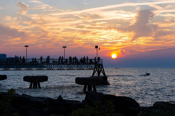 Photograph - Summer Edgewater Pier Sunset by Clint Buhler