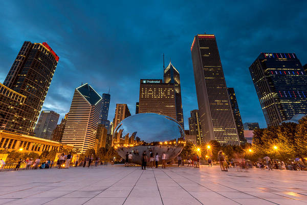 Photograph - Summer Evening At Cloud Gate by James Howe
