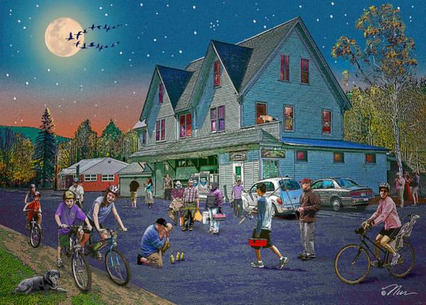 Digital Art - Summer Evening In Campton Village by Nancy Griswold