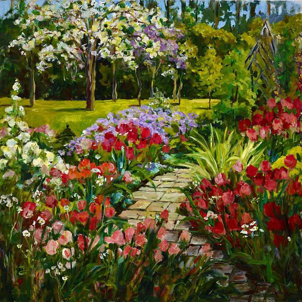 Painting - Summer Flower Garden by Ingrid Dohm