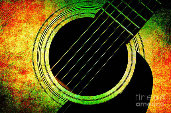 Photograph - Summer Guitar by Andee Design