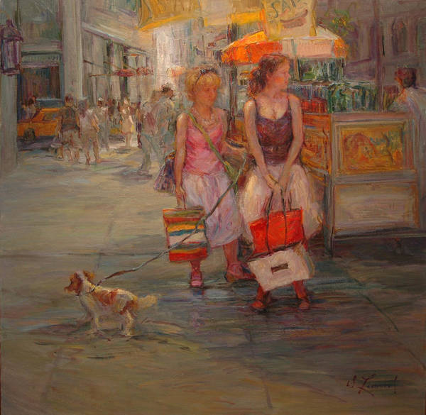 Wall Art - Painting - Summer In New York by Diane Leonard