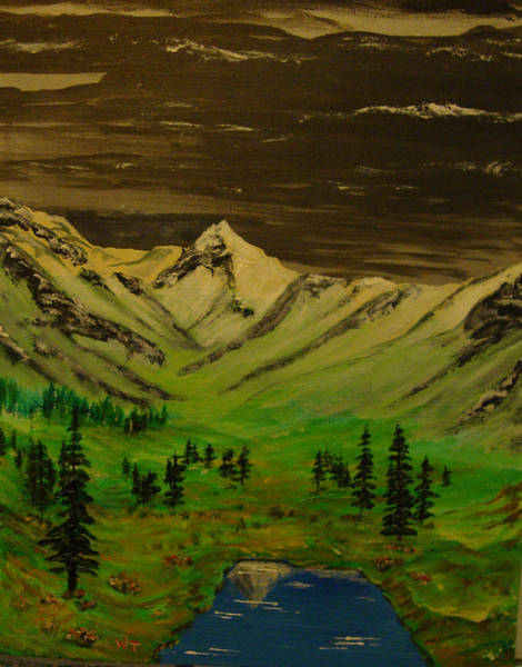 Summer In The Mountains Art Print by Iam Wayne