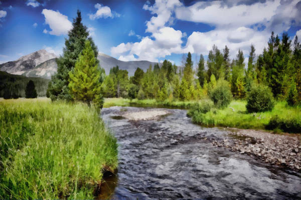 Pine Valley Digital Art - Summer In The Rocky Mountains by Ann Powell