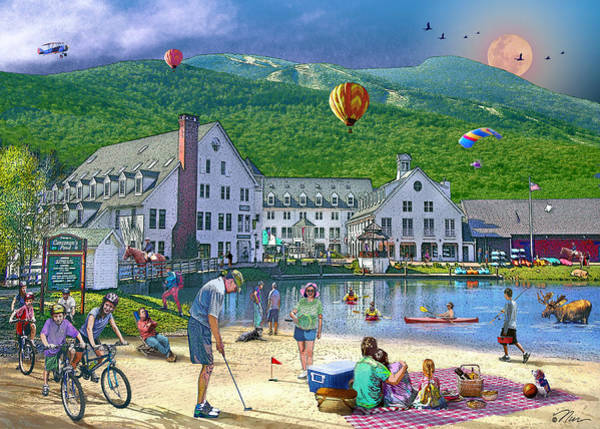 Summer In Waterville Valley Art Print