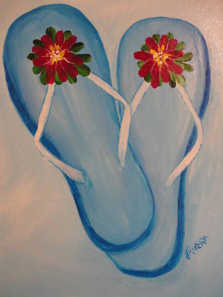 Wall Art - Painting - Summer by Janet Rivera