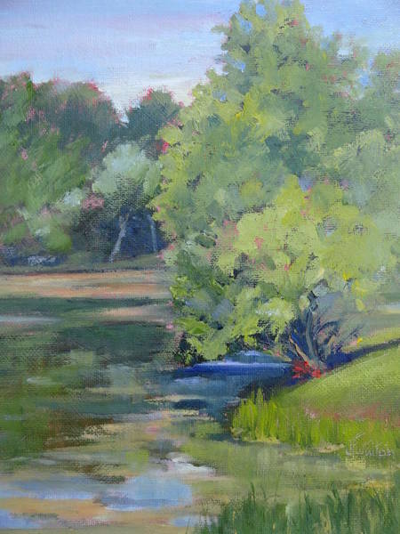 Painting - Summer Lake Impressions by Judy Fischer Walton
