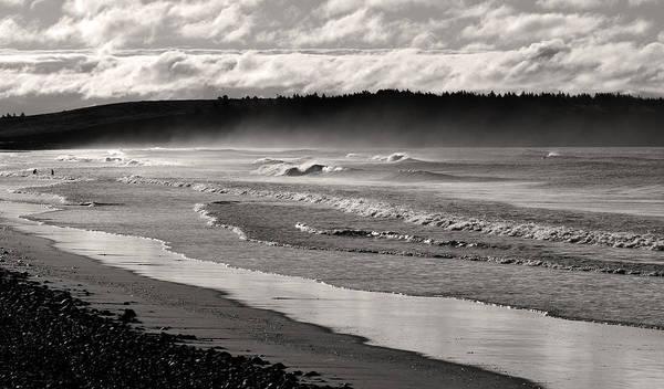 Wall Art - Photograph - Summer Morning Misty Beach Waves by Trevor Nicodemo