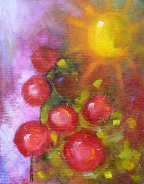 Linear Painting - Summer Morning by Nancy Merkle