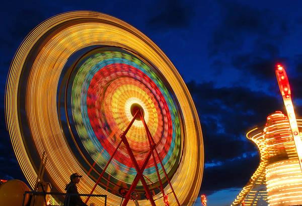 Photograph - Summer Nights Ferris Wheel by Clint Buhler