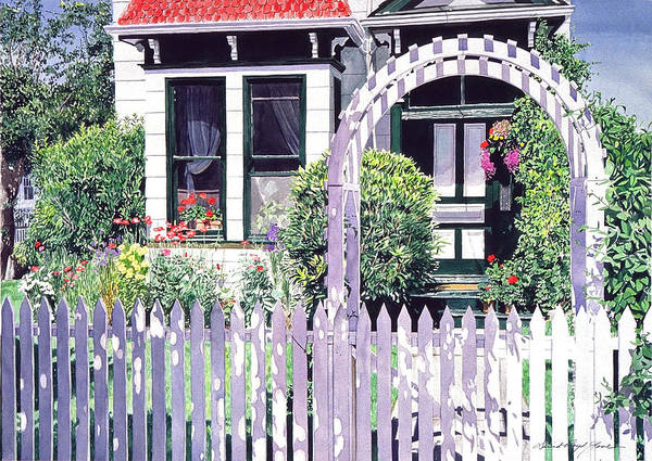 White Picket Fence Painting - Summer Of 1927 by David Lloyd Glover