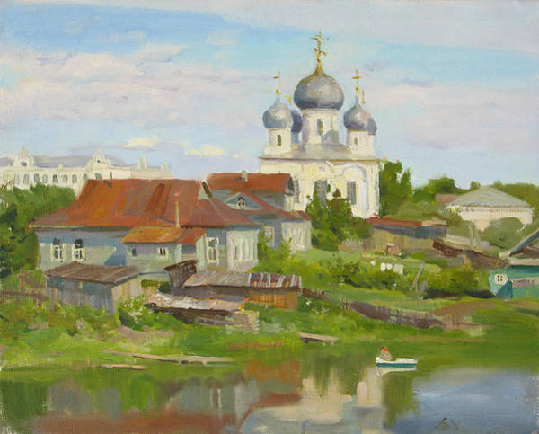 City Landscape Wall Art - Painting - Summer. Old Town by Victoria Kharchenko