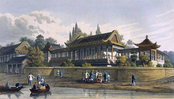 Riverbank Drawing - Summer Palace Of The Emperor, Opposite by English School