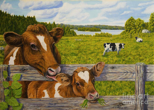 Atmospheric Painting - Summer Pasture by Veikko Suikkanen