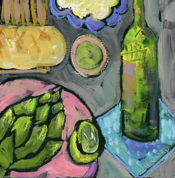 Asparagus Wall Art - Painting - Summer Picnic by Pamela J. Wingard