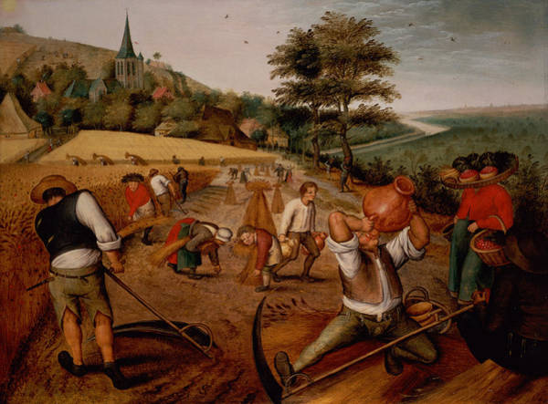 Harvesting Wall Art - Photograph - Summer by Pieter the Younger Brueghel