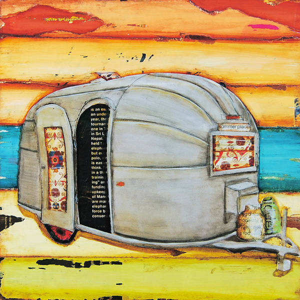 Camper Wall Art - Mixed Media - Summer Place by Danny Phillips