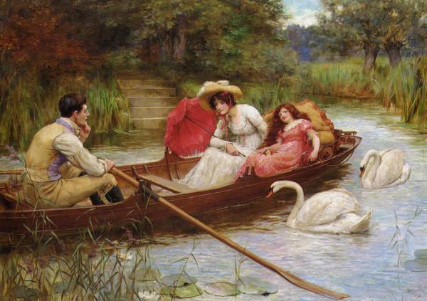 Digital Art - Summer Pleasures On The River by George Sheridan Knowles