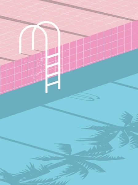 Czech Digital Art - Summer Pool Party Blank Invitation by Jozefmicic