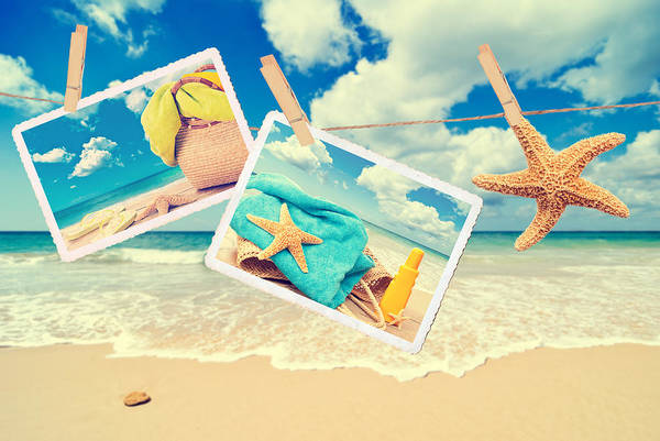 Flip Flops Photograph - Summer Postcards by Amanda Elwell
