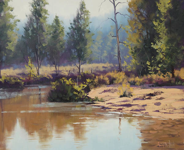 Brook Painting - Summer River  by Graham Gercken