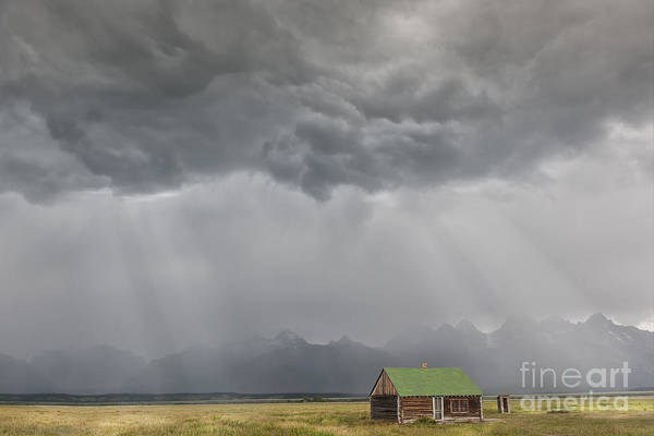 Wall Art - Photograph - Summer Storm In The Tetons by Sandra Bronstein