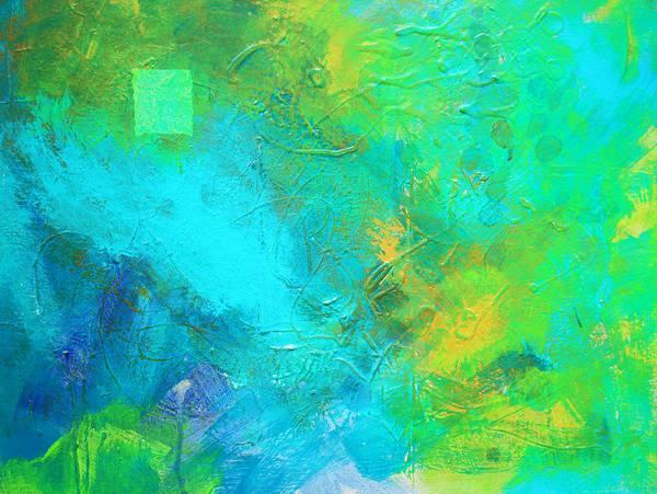Non Representational Painting - Summer Storm by Nancy Merkle